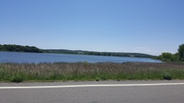 Roadside lake