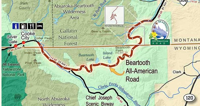 Beartooth map